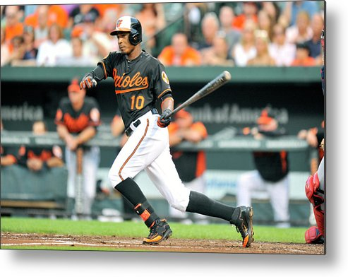 American League Baseball Metal Print featuring the photograph Adam Jones by Mitchell Layton