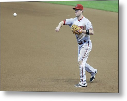 People Metal Print featuring the photograph Adam Lind and Chris Owings by Mike Mcginnis