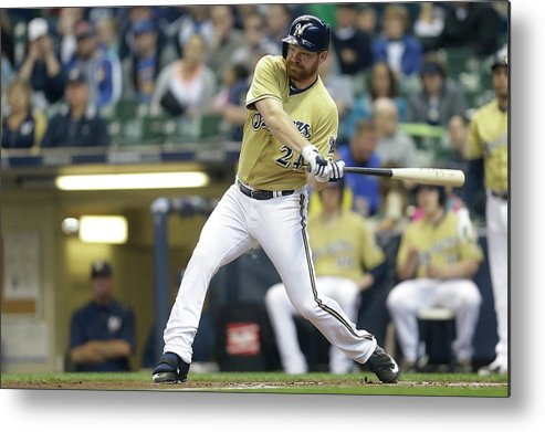 Second Inning Metal Print featuring the photograph Adam Lind by Mike Mcginnis