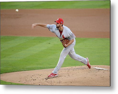 St. Louis Cardinals Metal Print featuring the photograph Adam Wainwright by Harry How