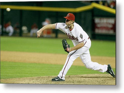 Ninth Inning Metal Print featuring the photograph Addison Reed by Ralph Freso