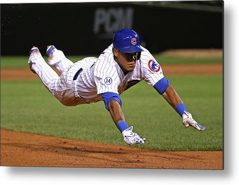 People Metal Print featuring the photograph Addison Russell by Jonathan Daniel