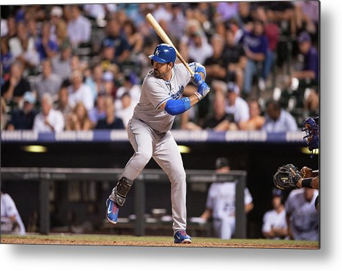 Los Angeles Dodgers Metal Print featuring the photograph Adrian Gonzalez by Dustin Bradford