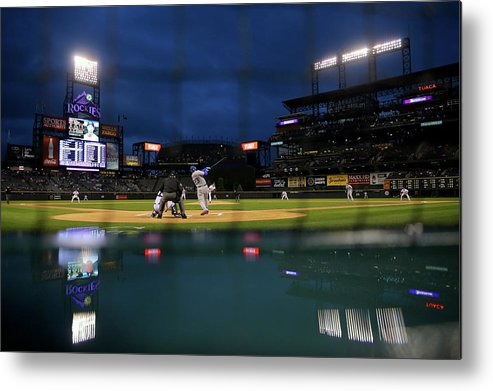 People Metal Print featuring the photograph Adrian Gonzalez by Justin Edmonds