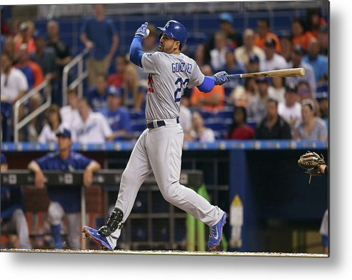 People Metal Print featuring the photograph Adrian Gonzalez by Rob Foldy
