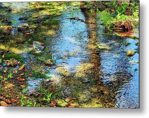 Reflections Metal Print featuring the photograph After Monet or Reflections in the Stream by Kirsten Giving
