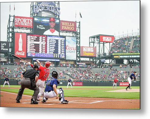 People Metal Print featuring the photograph Albert Pujols and Chad Bettis by Dustin Bradford