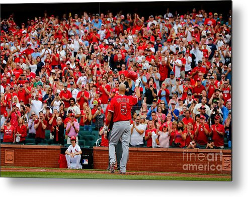 St. Louis Cardinals Metal Print featuring the photograph Albert Pujols by Dilip Vishwanat
