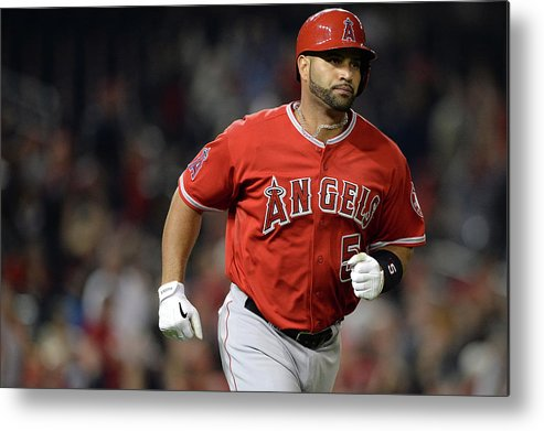 American League Baseball Metal Print featuring the photograph Albert Pujols by Patrick Smith