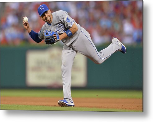 People Metal Print featuring the photograph Alcides Escobar by Michael Thomas
