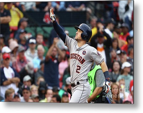 Alex Bregman Metal Print featuring the photograph Alex Bregman by Maddie Meyer