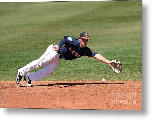 Alex Bregman Metal Print featuring the photograph Alex Bregman by Stacy Revere