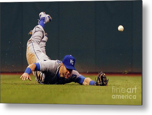 People Metal Print featuring the photograph Alex Gordon and Jason Kipnis by David Maxwell