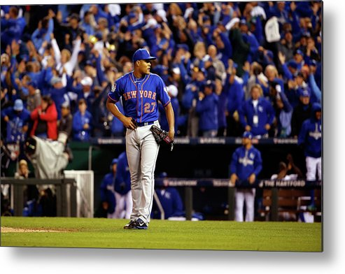 Ninth Inning Metal Print featuring the photograph Alex Gordon and Jeurys Familia by Sean M. Haffey