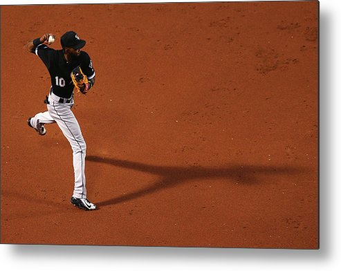 Second Inning Metal Print featuring the photograph Alexei Ramirez and Rusney Castillo by Maddie Meyer