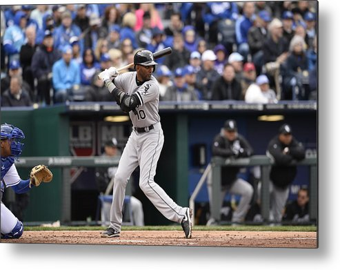 American League Baseball Metal Print featuring the photograph Alexei Ramirez by John Williamson