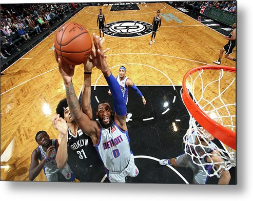 Nba Pro Basketball Metal Print featuring the photograph Andre Drummond by Nathaniel S. Butler