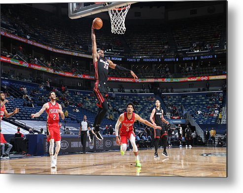 Smoothie King Center Metal Print featuring the photograph Andre Iguodala by Layne Murdoch Jr.