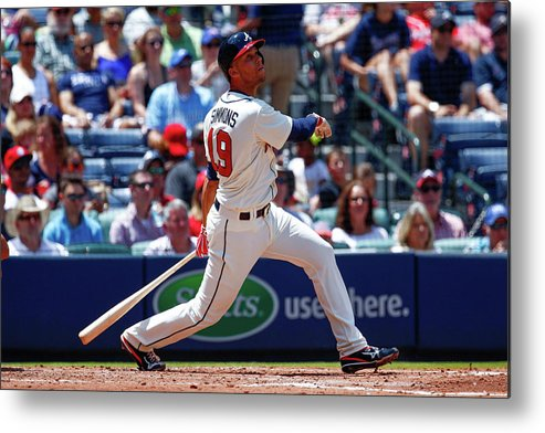 Atlanta Metal Print featuring the photograph Andrelton Simmons by Kevin Liles