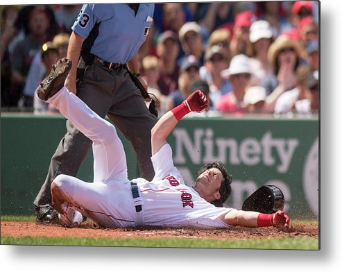 Second Inning Metal Print featuring the photograph Andrew Benintendi by Billie Weiss/boston Red Sox