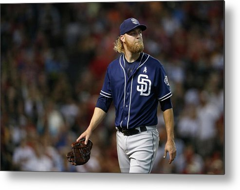 Following Metal Print featuring the photograph Andrew Cashner by Christian Petersen