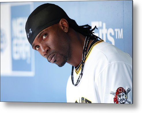 Pnc Park Metal Print featuring the photograph Andrew Mccutchen by Joe Robbins
