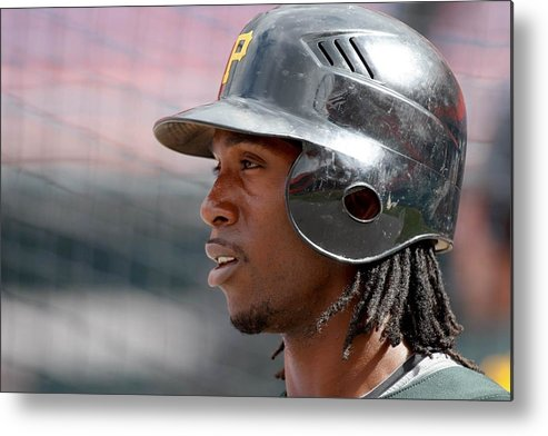 Hard Rock Stadium Metal Print featuring the photograph Andrew Mccutchen by Ronald C. Modra/sports Imagery