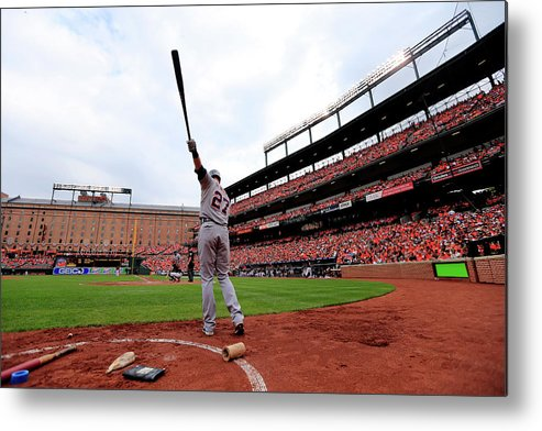 Andrew Romine Metal Print featuring the photograph Andrew Romine by Rob Carr