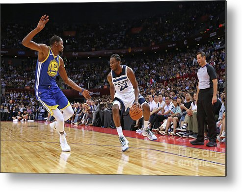 Event Metal Print featuring the photograph Andrew Wiggins and Kevin Durant by David Sherman