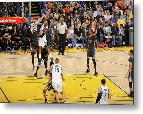 Nba Pro Basketball Metal Print featuring the photograph Andrew Wiggins by Andrew D. Bernstein