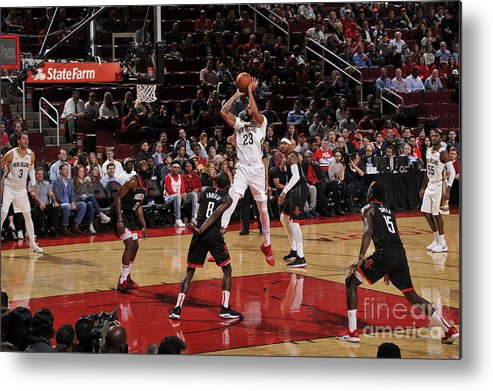 Nba Pro Basketball Metal Print featuring the photograph Anthony Davis by Bill Baptist