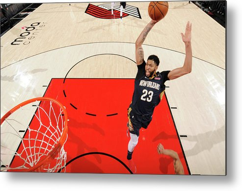 Playoffs Metal Print featuring the photograph Anthony Davis by Cameron Browne