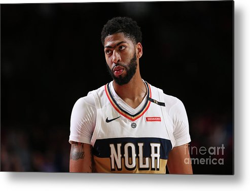 Nba Pro Basketball Metal Print featuring the photograph Anthony Davis by Sam Forencich