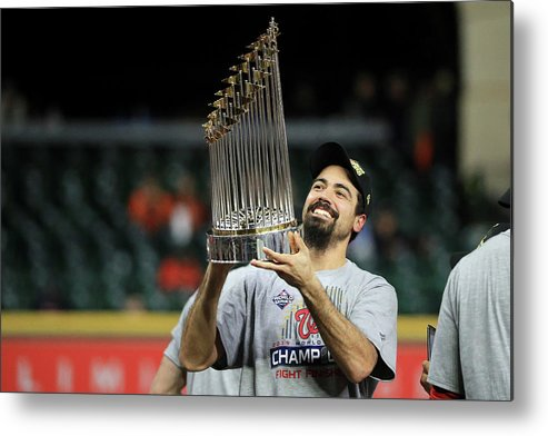 American League Baseball Metal Print featuring the photograph Anthony Rendon by Mike Ehrmann