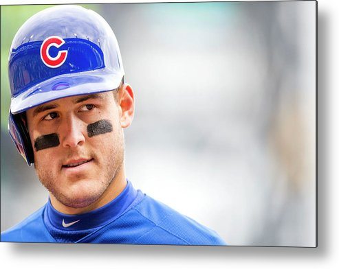 American League Baseball Metal Print featuring the photograph Anthony Rizzo and Gregory Polanco by Taylor Baucom
