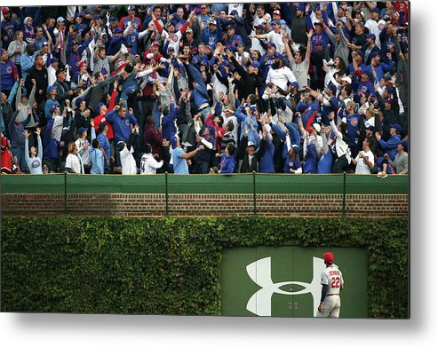 St. Louis Cardinals Metal Print featuring the photograph Anthony Rizzo and Jason Heyward by Jonathan Daniel