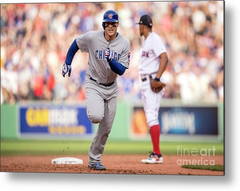 People Metal Print featuring the photograph Anthony Rizzo by Billie Weiss/boston Red Sox