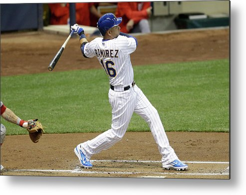 People Metal Print featuring the photograph Aramis Ramirez by Mike Mcginnis