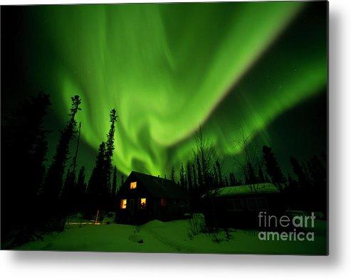 00551581 Metal Print featuring the photograph Aurora Borealis Alaska by Michael Quinton