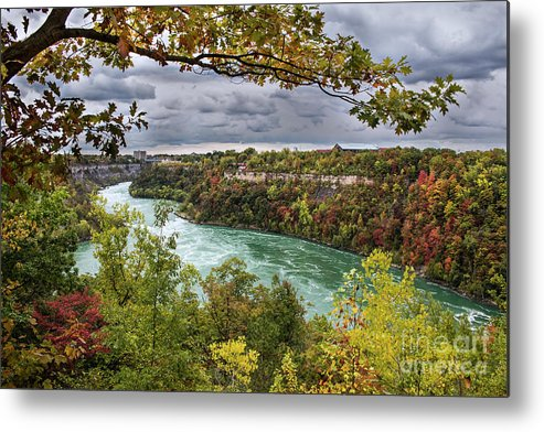 Nature Metal Print featuring the photograph Autumn in Niagara Falls by Francis Lavigne-Theriault