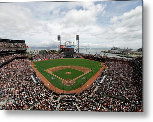 San Francisco Metal Print featuring the photograph Barry Zito and Jon Jay by Ezra Shaw