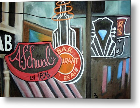 Beale Metal Print featuring the painting Beale by Loretta Nash