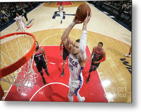 Nba Pro Basketball Metal Print featuring the photograph Ben Simmons by Ned Dishman