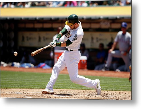 People Metal Print featuring the photograph Ben Zobrist by Ezra Shaw