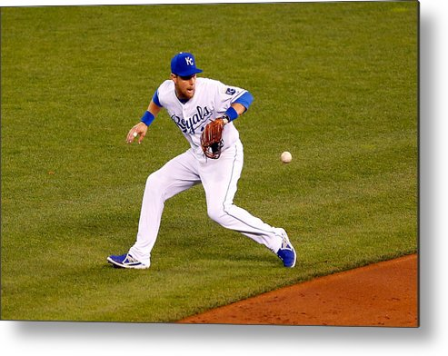 Game Two Metal Print featuring the photograph Ben Zobrist by Kyle Rivas