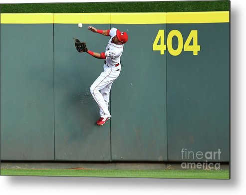 Great American Ball Park Metal Print featuring the photograph Billy Hamilton by Jamie Sabau