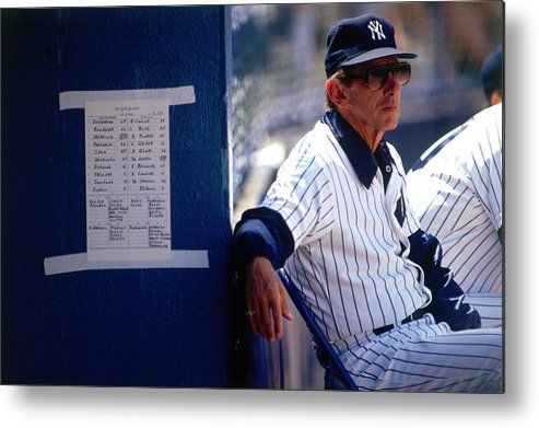 1980-1989 Metal Print featuring the photograph Billy Martin by Ronald C. Modra/sports Imagery