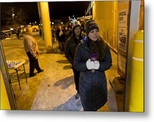 Event Metal Print featuring the photograph Black Friday Shoppers Look For Holiday Bargains by Darren Hauck