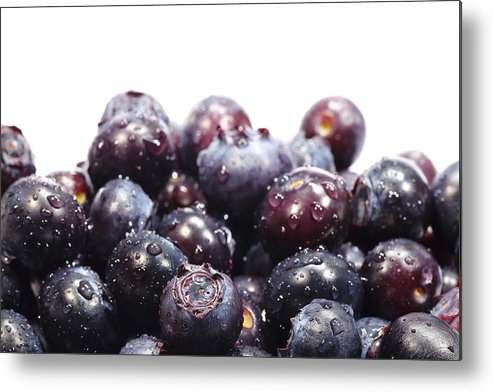 Heap Metal Print featuring the photograph Blueberries by Pejft