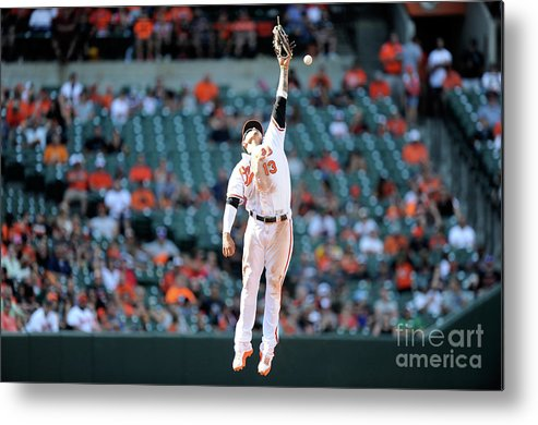 People Metal Print featuring the photograph Boog Powell And Manny Machado by Greg Fiume